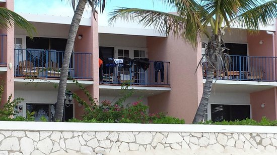 Osprey Beach Hotel : Room 45 is the one with the dive gear on the railing