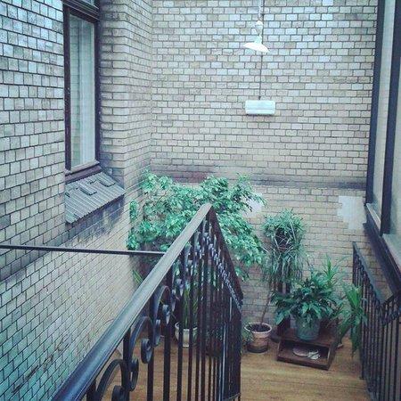 Hostel Mleczarnia : Stairs & Interior