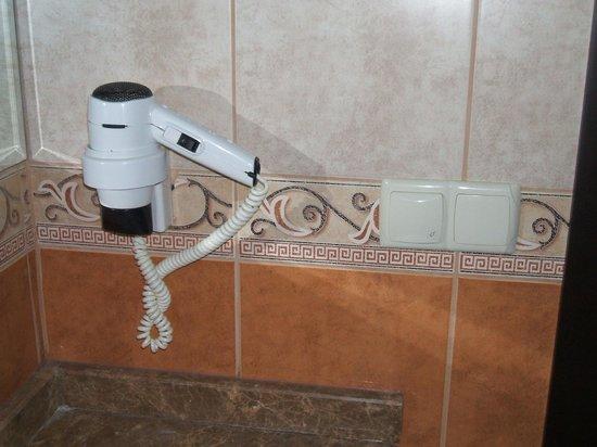 Dalyan Tezcan Hotel: Bathroom Hairdryer