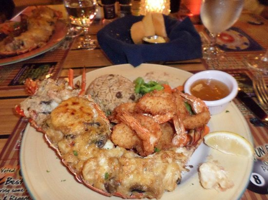 Pineapple Pete: lobster thermidor.
