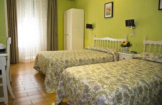 Hostal Los Alpes: Habitación doble (dos camas)
