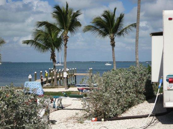Point of View Key Largo RV Resort : dock area