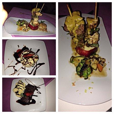 Grand Palladium Vallarta Resort & Spa : Beef & chicken sashe w/ 2 dessert choices