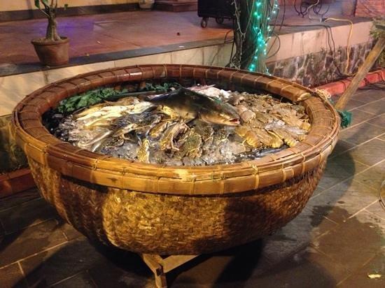 Sandhills Beach Resort & Spa: Одно из блюд к праздничному ужину Ново Года
