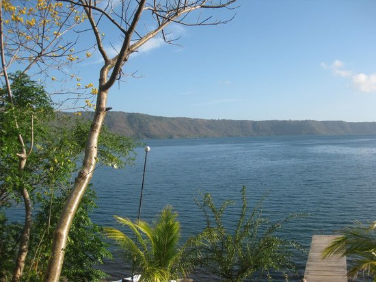 San Simian Eco Lodge: View of the Laguna from the grounds of San Simian