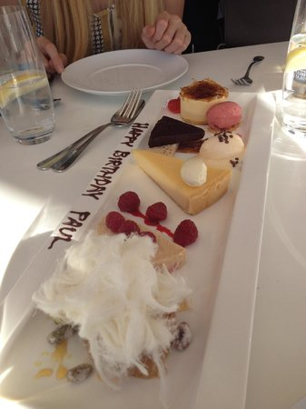 Catalina Restaurant: Birthday desert on request