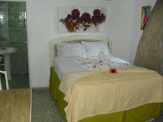 Hotel Jose Contreras: Habitacion sencilla con una cama doble