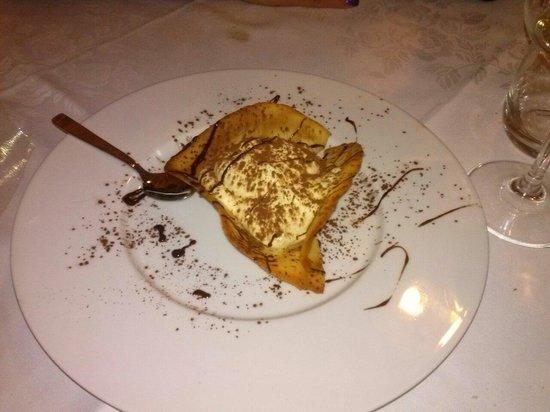 Osteria D'Al Maso: Cialda con crema di mascarpone. ...
