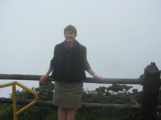 Poas Volcano: Poás Volcano - There's the crater, somewhere under the fog!