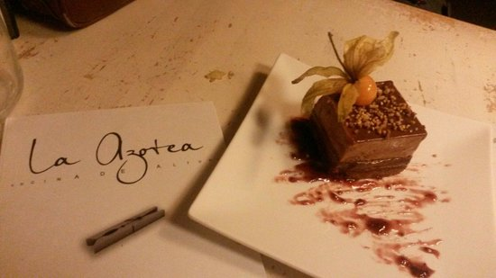 La Azotea Gran Poder: Torta al cioccolato