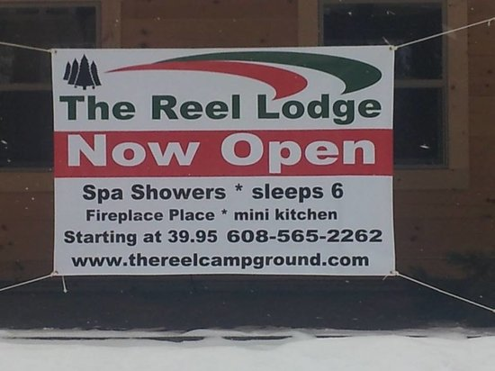 The Reel RV Campground & Log Lodge Resort: The Lodge banner