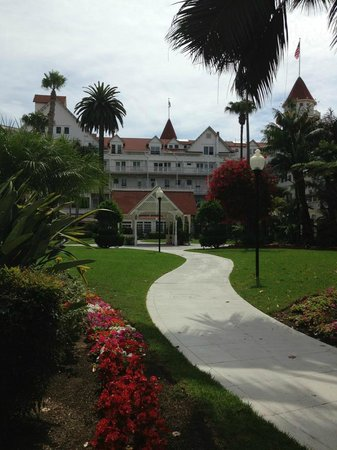 Hotel del Coronado: The view we woke up to while sipping coffee in our veranda