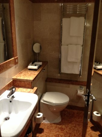 Flemings Mayfair: large bathroom for the room size