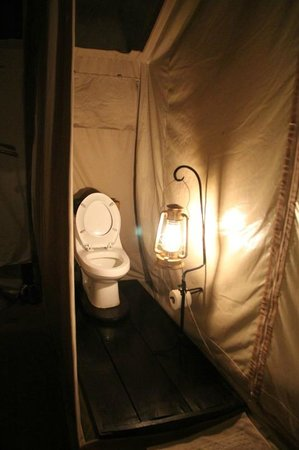 andBeyond Serengeti Under Canvas: Wonderful Toilet facilities in our tent