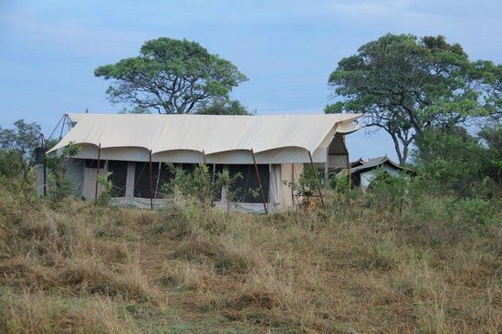 andBeyond Serengeti Under Canvas: Looking back to our tent