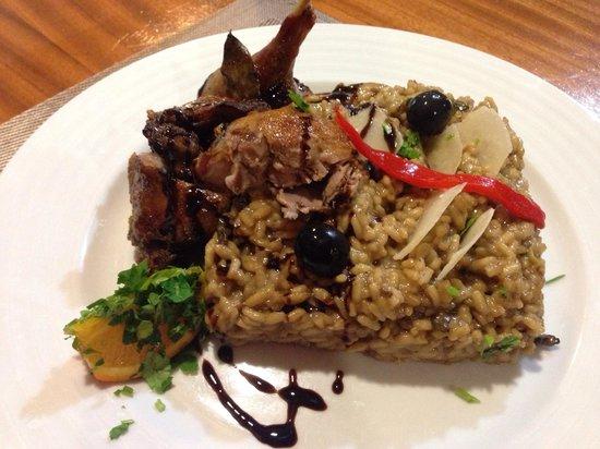 """Restaurante Pérola: """"Pato com risoto de cogumelos"""" Magnífico p(r)ato."""