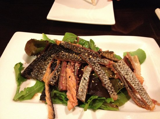 salmon skin salad picture of osaka seafood steakhouse