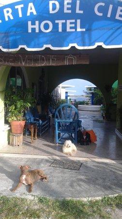Puerta Del Cielo : L'entrée de l'hôtel