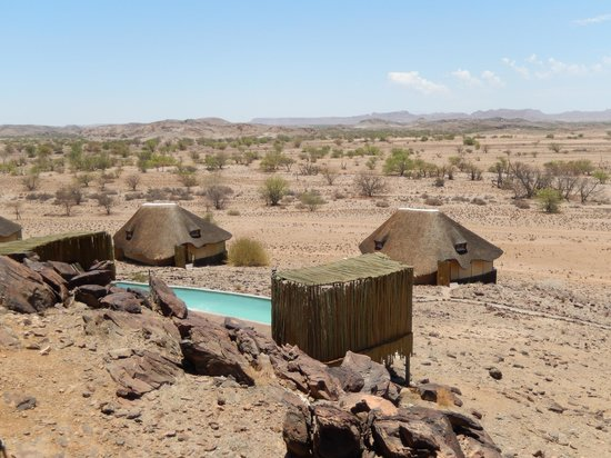 Wilderness Safaris Doro Nawas Camp: Yes, There is a Small Pool With a Great View, Rooms in the Background