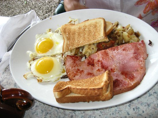 The Stuffed Pig: eggs and ham