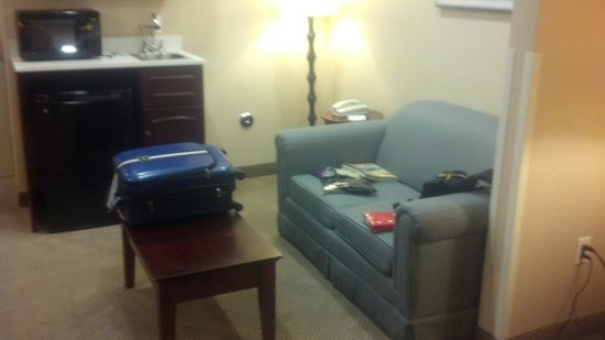Holiday Inn Express Hotel & Suites Los Angeles Airport Hawthorne : nice sofa and table