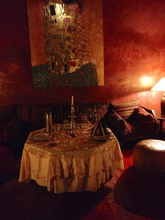 Riad Samsara: The dining room