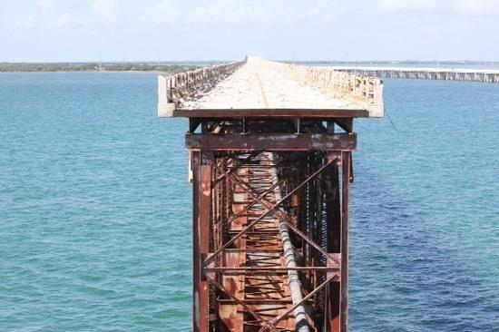 Bahia Honda State Park and Beach: le reste du pont de chemin de fer