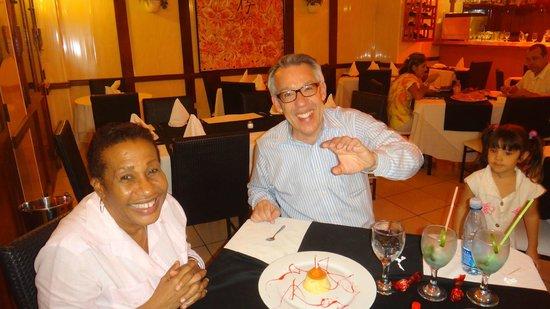 El viejo amigo: Birthday candle and great atmosphere