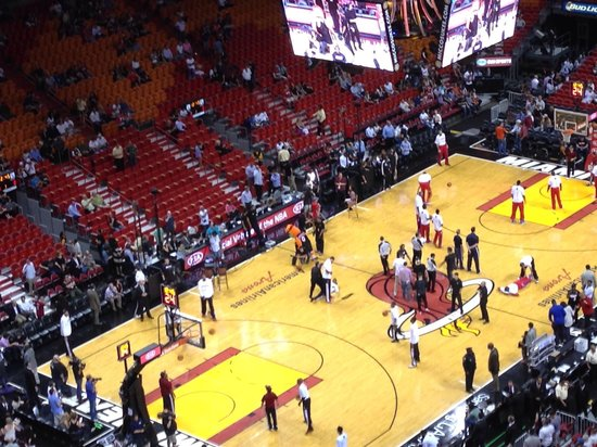 American Airlines Arena: Go heat