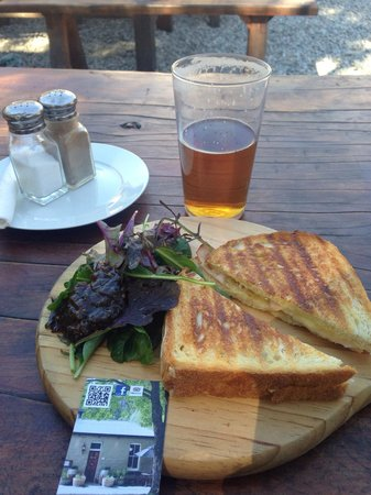 The Fork and Tap: Ham off-bone Toasted Sandwich and hand-pulled ale