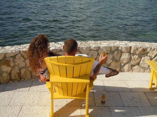 Cayman Castle: relaxing with my wife