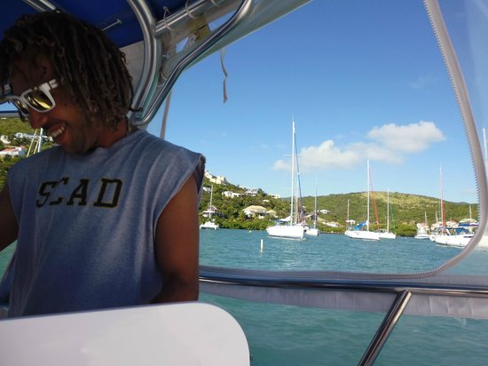 Captain Alan's Three Island Snorkeling Adventure : Captain Gervais made sure we had plenty of water, beer and fun!
