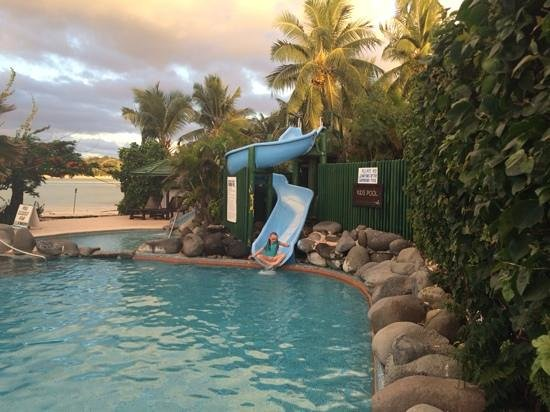 Plantation Island Resort: kids water slide