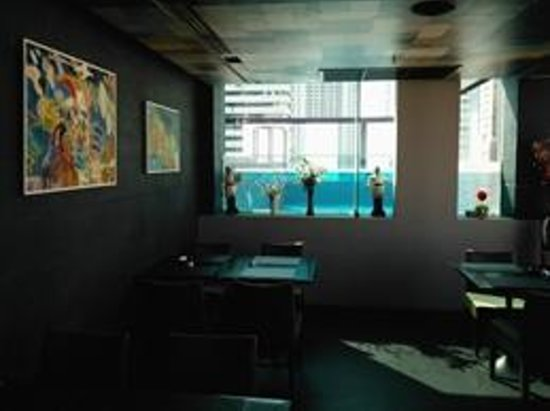Aspira Hiptique: View of pool from dining room