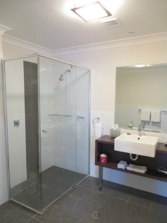 Macquarie Waters Hotel & Apartments: shower
