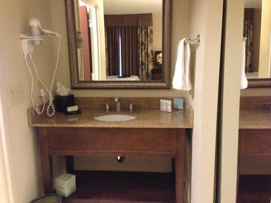 Hampton Inn & Suites Boynton Beach: Sink by bathroom
