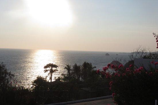 Villas Mykonos: Puesta de sol desde el hotel