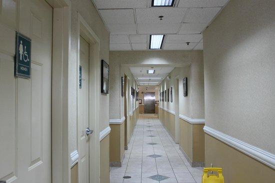 Comfort Suites Seven Mile Beach: first floor hallway