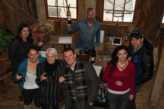 The Barns at Hamilton Station Vineyards: Our merry crew