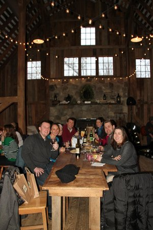 The Barns at Hamilton Station Vineyards: The main table near the hearth