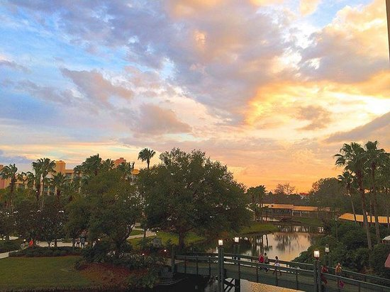 Hilton Orlando Buena Vista Palace Disney Springs : Sunset from room