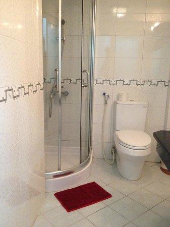 Splendid Jupiter Hotel : Shower cabin & Toilet