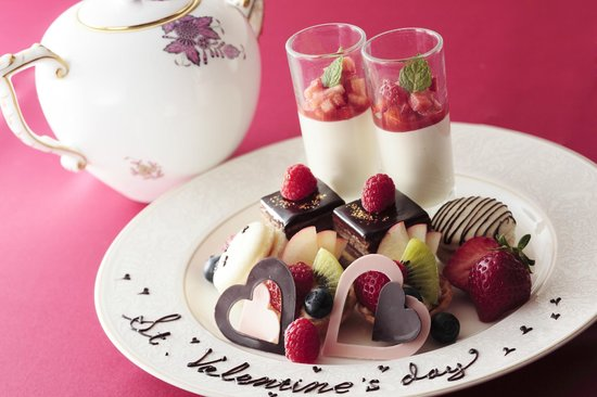 Desssert  Cafe Chourakukan: Afternoon tea set (Valentain Day Special)