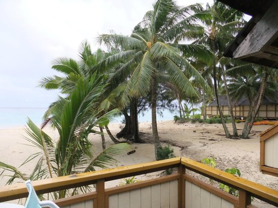 Palm Grove: View from the beachside bungalow