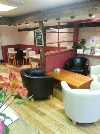Greengages Cafe: Our newly decorated interior.