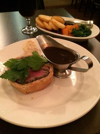 Beef Wellington - didn\'t need horseradish! - Picture of The Dining ...