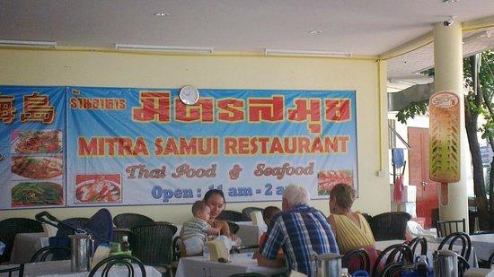 Mit Samui Restaurant: Sign inside the venue