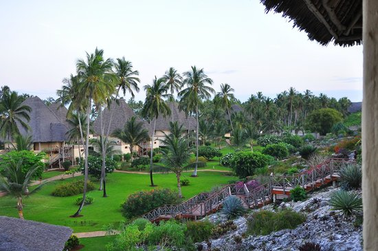 Neptune Pwani Beach Resort & Spa : view over the resort from our balcony