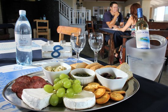 On The Harbour: Cheese Platters accompany a bottle of white wine