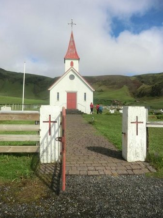 Black Sand Beach: church from front
